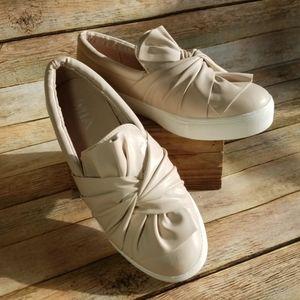 Tan Mia Zoe Knot Slip on Sneakers